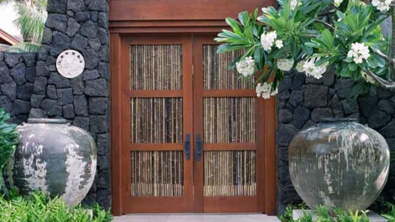 درب بامبو - انواع درب