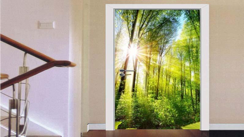 نور خورشید - درب پی وی سی
