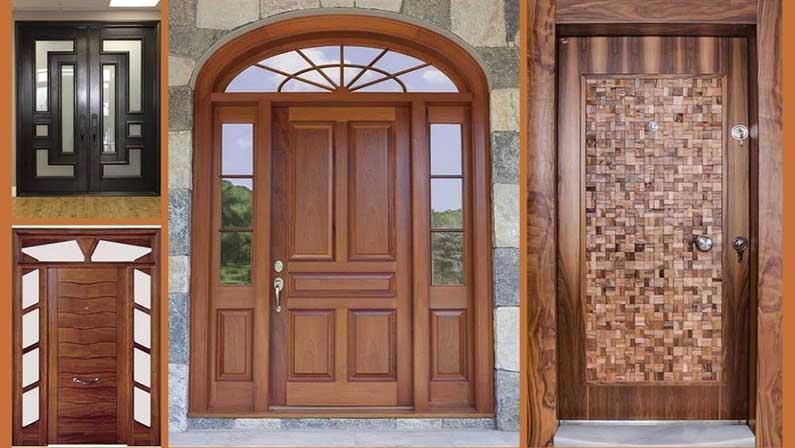 گزینههای طراحی برای دربهای چوبی - انواع درب چوبی