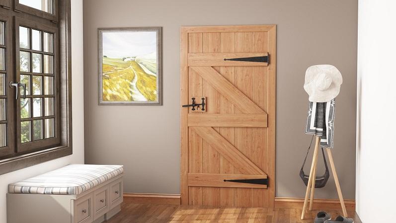 دربهایی با وادارهای افقی و عمودی به همراه مهاربند جانبی - انواع درب ساختمانی