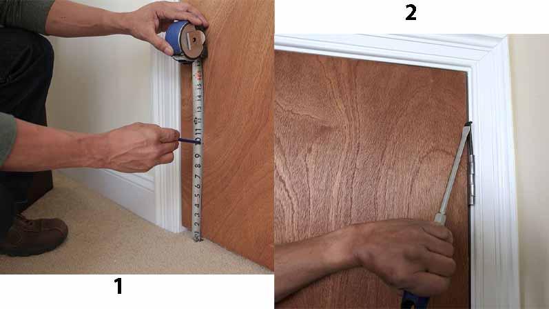 برداشتن درب قدیمی-آموزش نصب درب