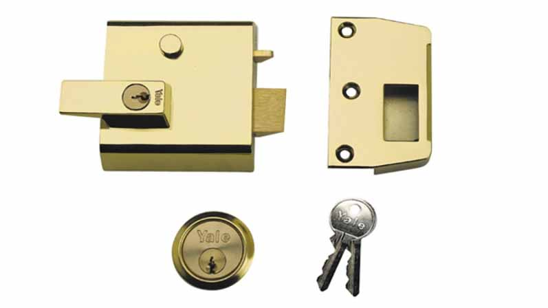 ۳. Rim Automatic Deadlatch با دستگیره قفل کلید-خرید قفل درب