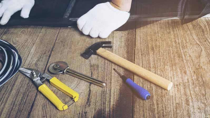ابزار مورد نیاز برای نصب درب-آموزش نصب درب